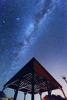 天の川と小笠原父島ウェザーステーション展望台