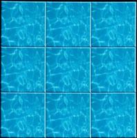 水面模様のタイル(青)