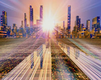 未来都市 CG