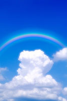 入道雲と虹