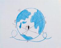 地球と新郎新婦
