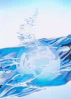 地球儀と水泡