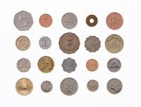 整列する硬貨