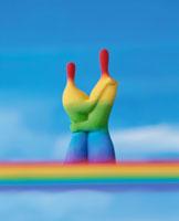 虹色の男女