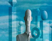 男性のクラフトCG合成イメージ 00684000621| 写真素材・ストックフォト・画像・イラスト素材|アマナイメージズ