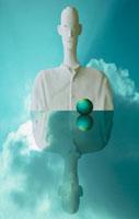 男性のクラフトCG合成イメージ 00684000622| 写真素材・ストックフォト・画像・イラスト素材|アマナイメージズ