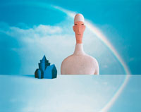 人物のクラフトCG合成イメージ 00684000629| 写真素材・ストックフォト・画像・イラスト素材|アマナイメージズ