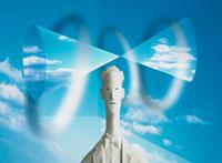男性のクラフトCG合成イメージ 00684000630| 写真素材・ストックフォト・画像・イラスト素材|アマナイメージズ