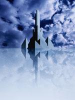 塔のある建物と青空(青) 00684010053| 写真素材・ストックフォト・画像・イラスト素材|アマナイメージズ