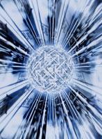 放射状に光る球体 CG 00684010085| 写真素材・ストックフォト・画像・イラスト素材|アマナイメージズ