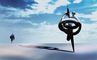 空と巻きつく人イメージ CG 00684010104| 写真素材・ストックフォト・画像・イラスト素材|アマナイメージズ