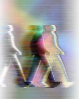 3人の歩くビジネスマンイメージ CG 00684010216| 写真素材・ストックフォト・画像・イラスト素材|アマナイメージズ