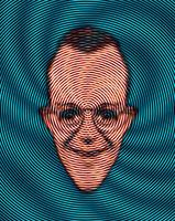 渦とほほえむ男性の顔 CG 00684010304| 写真素材・ストックフォト・画像・イラスト素材|アマナイメージズ