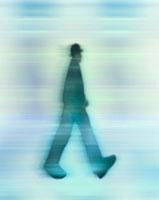 歩くビジネスマンイメージ CG