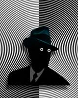 帽子を被った男性のシルエット CG 00684010316| 写真素材・ストックフォト・画像・イラスト素材|アマナイメージズ