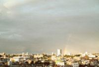 街並みと虹 東京都
