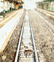 線路とホーム 長野県