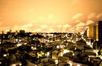 街並みの夕景 文京区 東京都