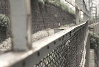 線路沿いのフェンス