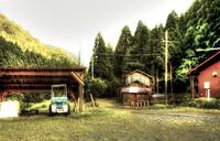 家屋とトラクター