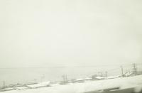 車窓からの雪景色