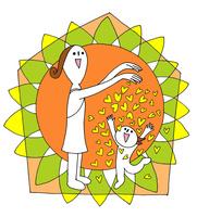 家の中で子供に愛情をいっぱいふりそそぐ若い母親 00705000202| 写真素材・ストックフォト・画像・イラスト素材|アマナイメージズ