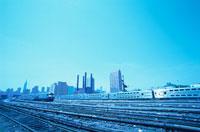 線路と電車   ニューヨーク アメリカ