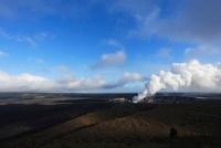 キラウエアのハレマウマウクレーターから昇る噴煙