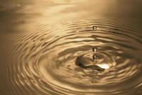 ゴールドの水紋 00744011881| 写真素材・ストックフォト・画像・イラスト素材|アマナイメージズ