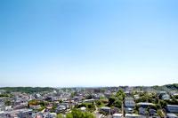 川崎市から望む新宿方面