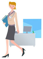 書類を持って歩くビジネスウーマン 00811010100| 写真素材・ストックフォト・画像・イラスト素材|アマナイメージズ