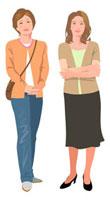 二人の中年女性