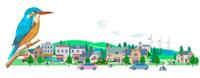 カワセミと街