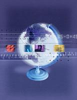 地球儀 とビジネスイメージ合成 00822010016| 写真素材・ストックフォト・画像・イラスト素材|アマナイメージズ