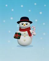 雪だるま CG