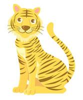 座っている虎