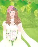 ブドウ園の中の花嫁