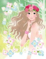 春を待ち望む春の女神