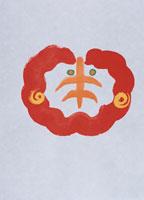 もこもこした羊の顔 イラスト