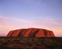 茜色のエアーズロック オーストラリア