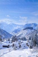 雪の積もった五箇山の相倉合掌造り集落