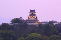高知城の夕暮れ
