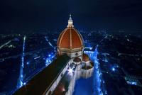 ジョットの鐘楼から眺めるドゥオーモの夜景