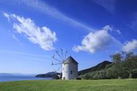 小豆島オリーブ公園と風車