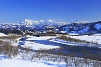 信濃川と越後駒ケ岳