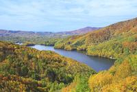 小野川湖と紅葉 01010026879| 写真素材・ストックフォト・画像・イラスト素材|アマナイメージズ