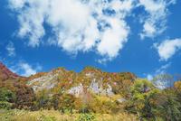 秋山郷紅葉の布岩
