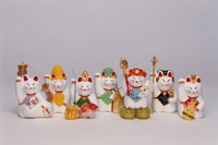 招き猫の七福神 クラフト