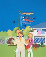子どもの日の家族のイメージ クラフト
