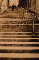 屋外の階段 エディンバラ スコットランド